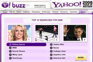 Top 10 yahoo 2008