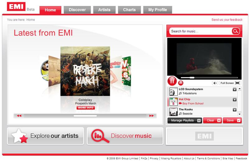 Emi home page