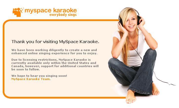 Myspace karaoke
