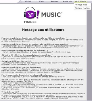 Yahoo music france ferme