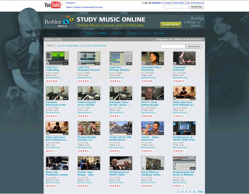 Blrkley musique on youtube